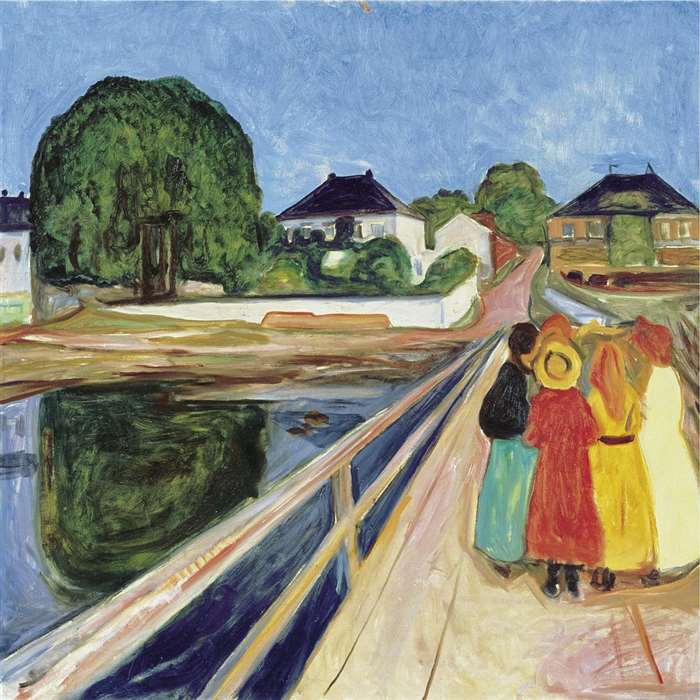 edvard munch girls on the bridge 1902