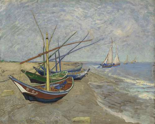 Fishing Boats on the Beach_Van_Gogh_Museum