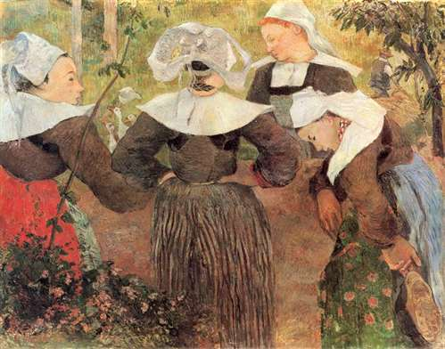 Paul Gauguin Four Breton Women