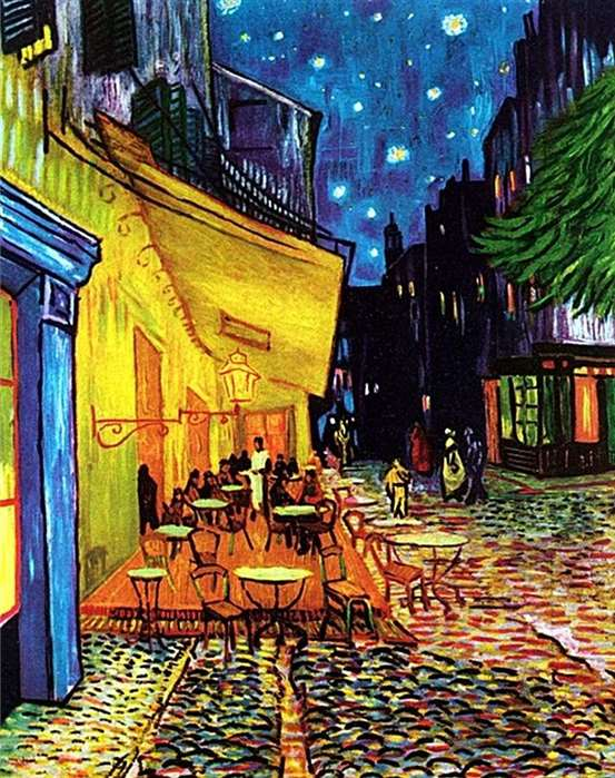 cafe terrace place du forum at night vincent van gogh_square